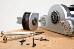 Reparación de la cámara vieja Foto de archivo