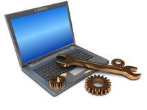 Reparación de la computadora portátil ilustración del vector