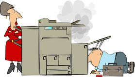 Reparación de la copiadora foto de archivo libre de regalías