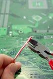 Reparación de la electrónica. Imagen de archivo