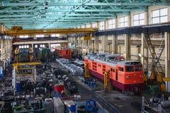 Reparación de locomotoras imágenes de archivo libres de regalías