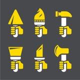 Reparación de los iconos del vector Foto de archivo
