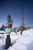 Reparación de los pozos de petróleo Foto de archivo libre de regalías