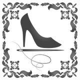 Reparación de zapatos para mujer Foto de archivo