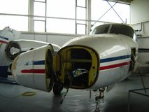 Reparación del aeroplano Foto de archivo