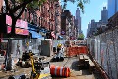 Reparación del camino de Nueva York Imagen de archivo libre de regalías