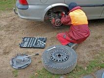Reparación del coche Imagen de archivo libre de regalías