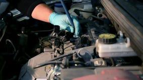 Reparación del coche metrajes