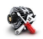Reparación del generador del coche stock de ilustración