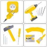 Reparación del hogar y trabajo de la herramienta Imagen de archivo libre de regalías