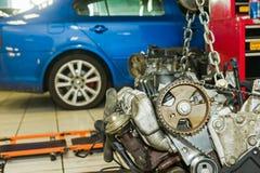 Reparación del motor de coche fotografía de archivo