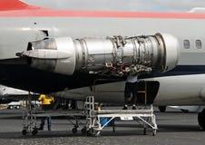 Reparación del motor de jet Imagen de archivo