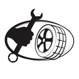 Reparación del neumático Imagenes de archivo