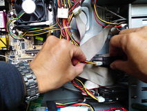 Reparación del ordenador Fotos de archivo libres de regalías
