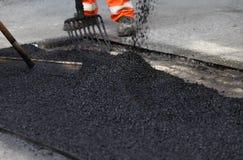 Reparación del pavimento Foto de archivo