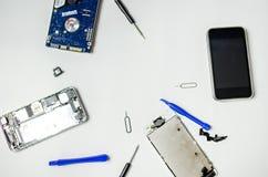 Reparación del teléfono Fotografía de archivo libre de regalías