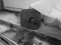 Reparación - edificio con las herramientas y el martillo, cincel, nivel del edificio imagen de archivo