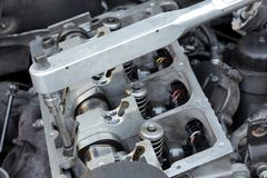 Reparación moderna del motor Foto de archivo libre de regalías