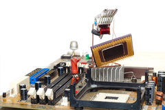 Reparación o mejora del ordenador Imágenes de archivo libres de regalías