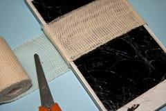 Reparación quebrada del teléfono móvil Foto de archivo