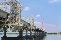 Reparación y construcción del puente Fotos de archivo libres de regalías