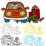 Reparación y mantenimiento del coche Imagen de archivo libre de regalías