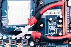 Reparación y mantenimiento del ordenador Fotos de archivo