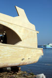 Reparación del barco de placer Foto de archivo libre de regalías