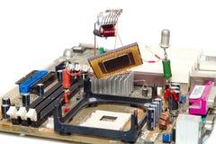 Reparación o mejora del ordenador Fotos de archivo libres de regalías