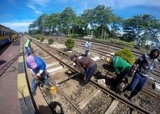 Reparaciones del ferrocarril Fotografía de archivo libre de regalías