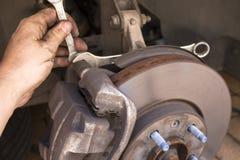 Reparaciones del freno del coche Imagen de archivo