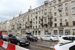 Reparaciones en la calle de Tverskaya Casa 17 Fotos de archivo