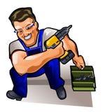Reparador com chave de fenda Fotos de Stock Royalty Free