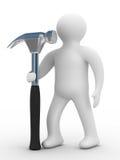 Reparador com a ferramenta em um fundo branco ilustração royalty free