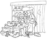 Reparador del zapato ilustración del vector