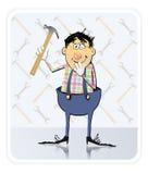 Reparador With Hammer Fotografía de archivo libre de regalías