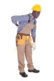 Reparador Having Back Ache foto de stock