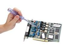 Reparando a eletrônica Fotografia de Stock