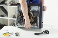 Reparando o computador Foto de Stock Royalty Free