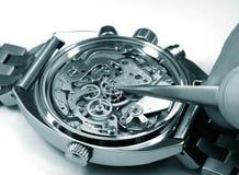Reparando o monochrome do relógio Foto de Stock Royalty Free