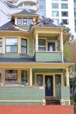 Reparando uma casa histórica de Vancôver Foto de Stock