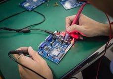 Reparatie elektronische het meten parameters Royalty-vrije Stock Fotografie