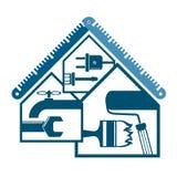 Reparatie en onderhoud thuis vector illustratie