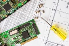Reparatie gebroken computer Stock Foto