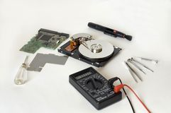Reparatie HDD royalty-vrije stock fotografie