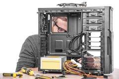Reparatie van computer Stock Foto