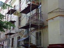 Reparatie van het oude huis Stock Fotografie