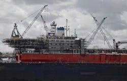 Reparatie van het schip Stock Afbeeldingen