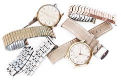 Reparatie van horloges Stock Foto's