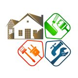 Reparatie van huisvesting met hulpmiddelen royalty-vrije illustratie